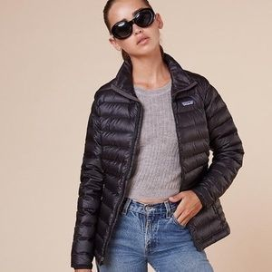 Patagonia black down puffer jacket